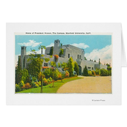 View of Hoover's Home, Stanford U Campus Greeting Card