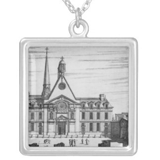 View of Hopital des Incurables Silver Plated Necklace