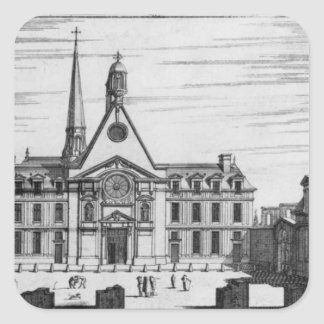 View of Hopital des Incurables Square Sticker