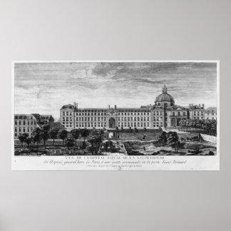 View of Hopital Royal de La Salpetriere Poster
