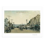 View of Horse Carriages on Castro Street Postcard