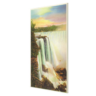 View of Horseshoe Falls from Goat Island Canvas Print