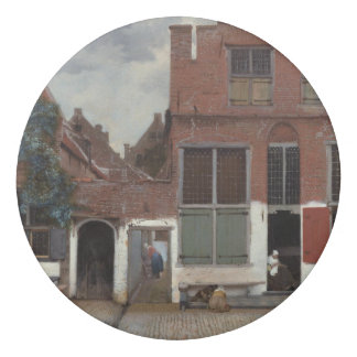 View of houses in Delft by Johannes Vermeer Eraser