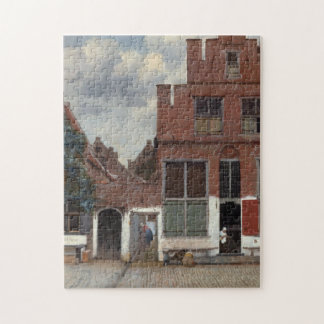 View of houses in Delft by Johannes Vermeer Jigsaw Puzzle