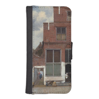 View of houses in Delft by Johannes Vermeer Phone Wallets