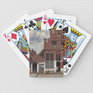 View of houses in Delft The Little Street Bicycle Playing Cards