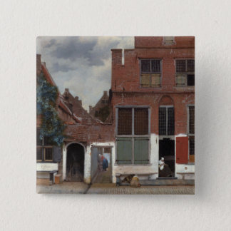 View of houses in Delft The Little Street Button