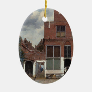 View of houses in Delft The Little Street Ceramic Ornament