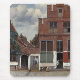View of houses in Delft The Little Street Mouse Pad