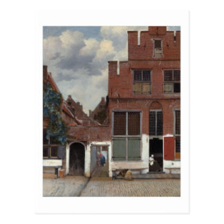 View of houses in Delft The Little Street Postcard