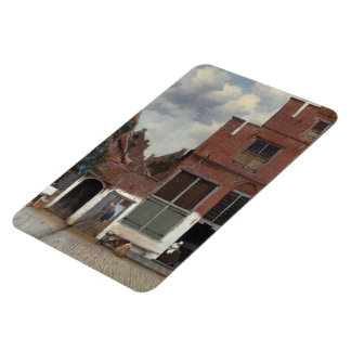 View of houses in Delft The Little Street Rectangular Photo Magnet