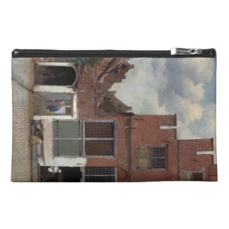 View of houses in Delft The Little Street Travel Accessory Bag