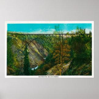 View of Hurricane Gulch Bridge, Alaska Poster