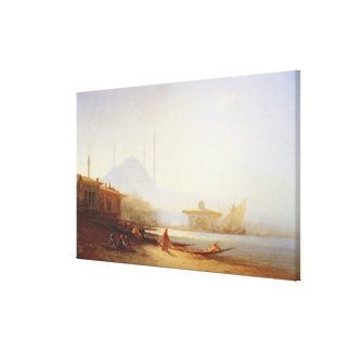 View of Istanbul, 1864 (oil on canvas) Stretched Canvas Prints