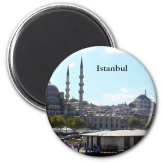 View of Istanbul 2 Inch Round Magnet