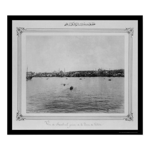 View of Istanbul From Galata 1885 Poster