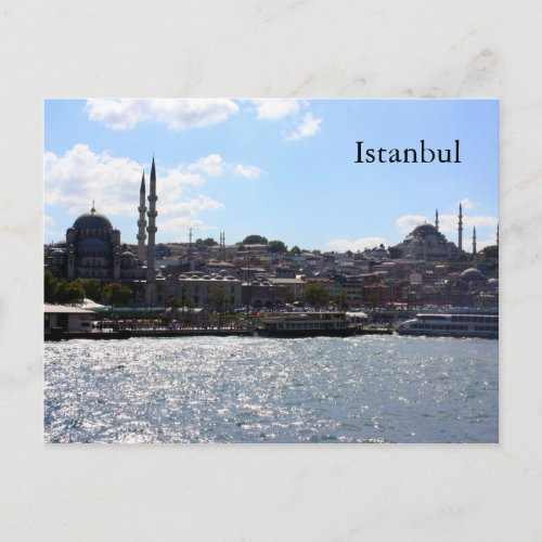 View of Istanbul Harbor Postcard
