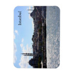 View of Istanbul Harbor Rectangle Magnet