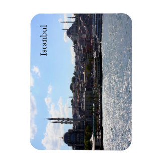 View of Istanbul Harbor Rectangular Photo Magnet