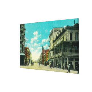 View of J and Mariposa Street CornerFresno, CA Stretched Canvas Print