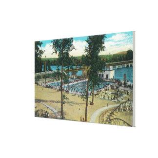 View of Jantzen Beach Swimming Pools Canvas Print