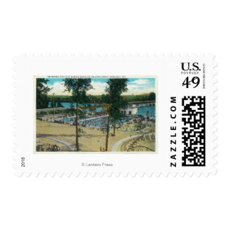 View of Jantzen Beach Swimming Pools Postage