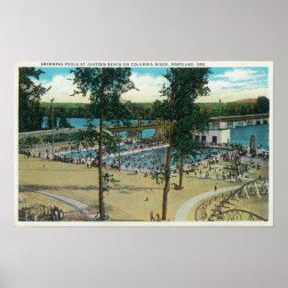 View of Jantzen Beach Swimming Pools Poster