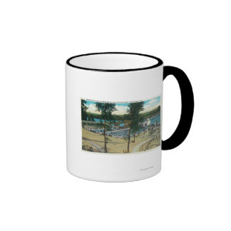 View of Jantzen Beach Swimming Pools Ringer Coffee Mug