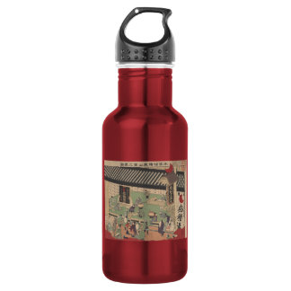 View of Japanese Pharmacy 18oz Water Bottle