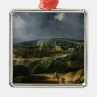 View of Jerusalem from the Valley of Jehoshaphat Metal Ornament