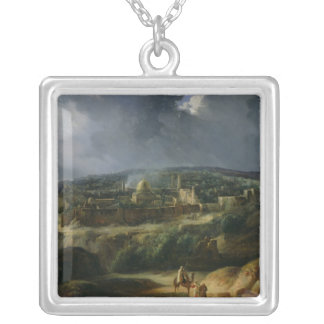 View of Jerusalem from the Valley of Jehoshaphat Silver Plated Necklace