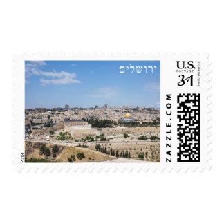 View of Jerusalem Old City, Israel Postage