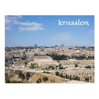 View of Jerusalem Old City, Israel Postcards