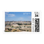 View of Jerusalem Old City, Israel Stamp