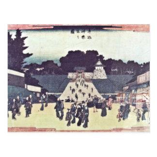 View of Kagurazaka - Ushigome bridge to Edo Castle Postcard