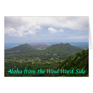View of Kailua from the Pali lookout, Aloha fro... Card