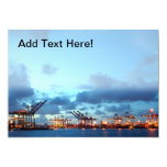 View of Kaohsiung Container Port at Evening Time 5x7 Paper Invitation Card