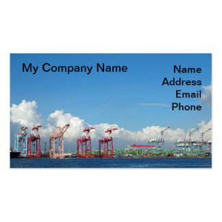 View of Kaohsiung Container Port with Summer Sky Business Card