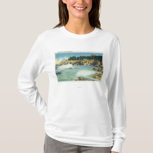 View of Kid's Cave at Squirrel Island T-Shirt