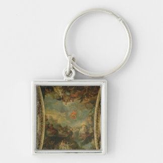 View of King Louis XIV  Governing Alone Keychain