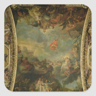 View of King Louis XIV  Governing Alone Square Sticker