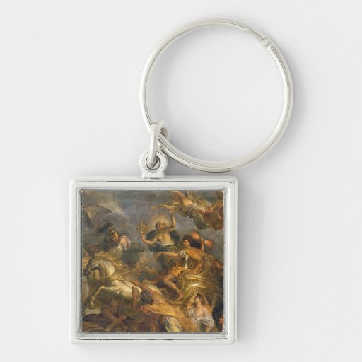 View of King Taking Maastricht in Thirteen Key Chains