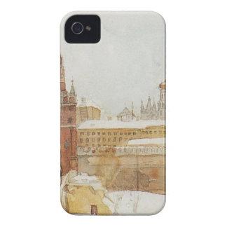 View of Kremlin at winter by Vasily Surikov iPhone 4 Case