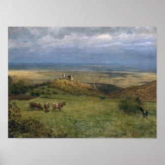 View of Kronberg in Taunus, Germany, 1879 Poster