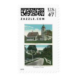View of Lake Champlain Lighthouse Postage