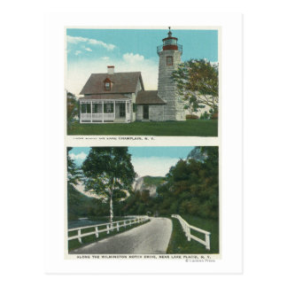View of Lake Champlain Lighthouse Postcard