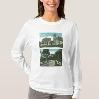 View of Lake Champlain Lighthouse T-Shirt