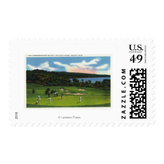 View of Lake Cobbosseecontee and Golf Links Stamp