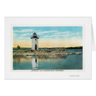 View of Lake Cobbosseecontee and the Lighthouse Card