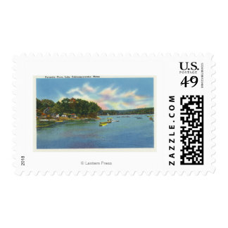 View of Lake Cobbosseecontee in Pernette Cove Stamp